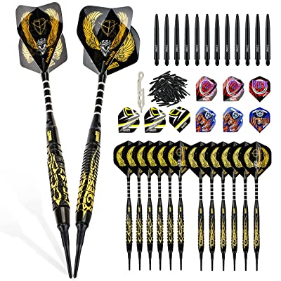 6 Pieces 16 Grams Dart Replacement Barrels Set for Soft and Steel Tip Darts