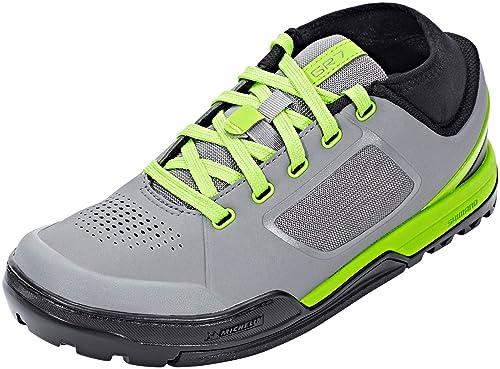 SHIMANO - Zapatillas de Ciclismo para Hombre Gris Verde 48 EU: Amazon.es: Zapatos y complementos
