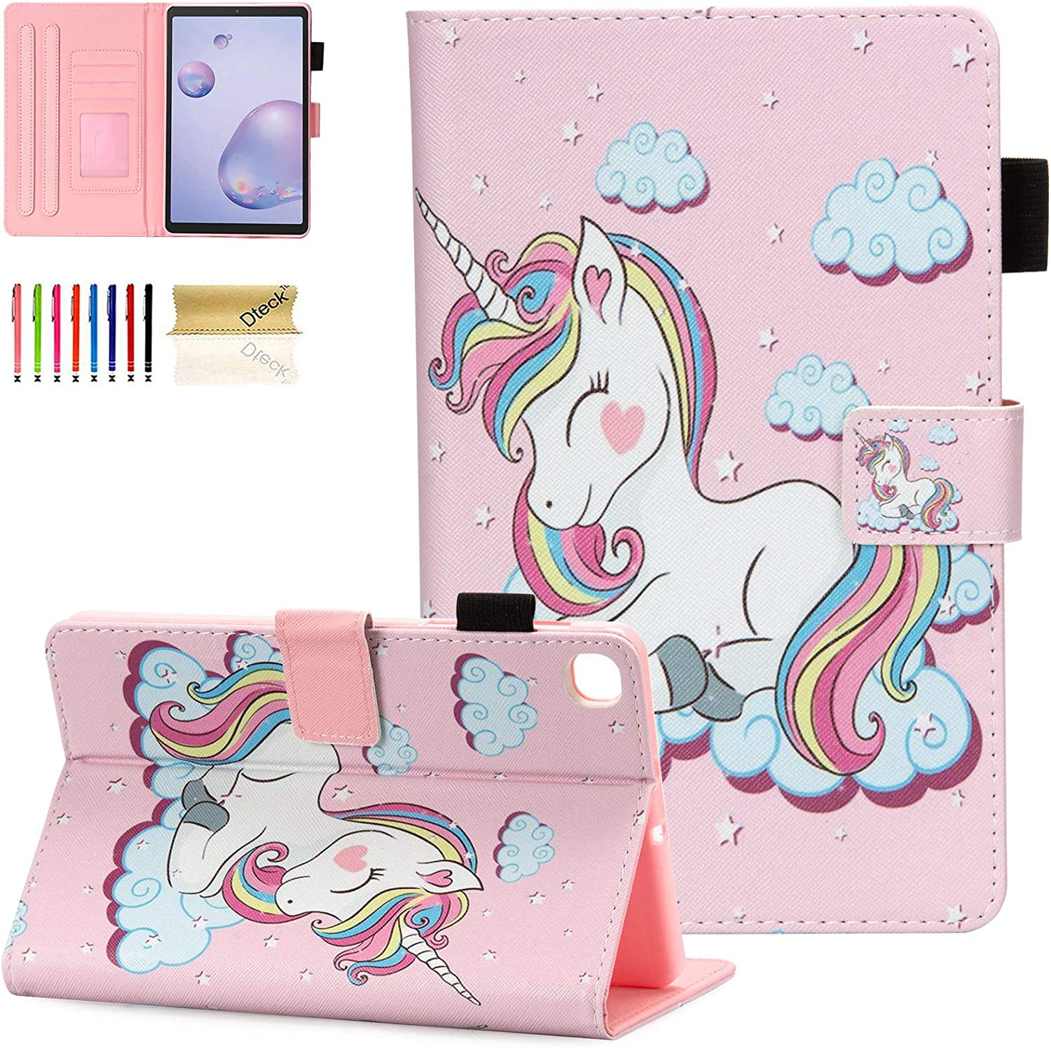 Dteck Case for Samsung Galaxy Tab A 8.4 2020 SM-T307 Verizon/Sprint/T-Mobile/AT&T, Slim Multi-Angle Folio Stand Premium PU Leather Case Protective Cover for T307 Galaxy Tab A 8.4 Tablet, Pink Unicorn