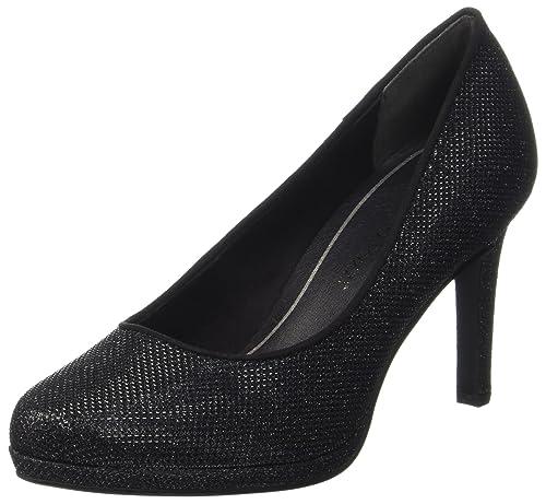 22450, Zapatos de Tacón para Mujer, Gris (Dk.Grey Met.), 40 EU Marco Tozzi