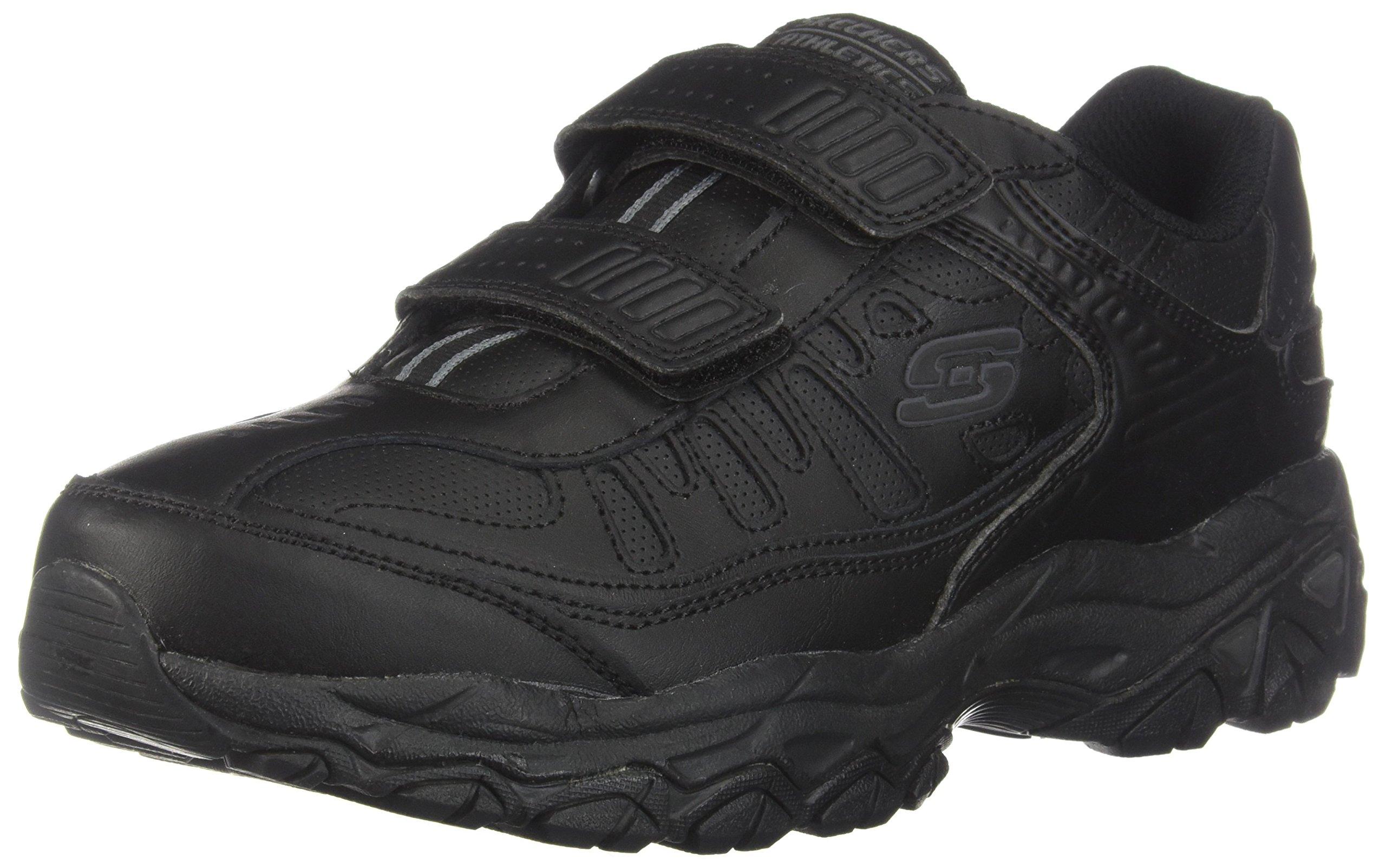 Skechers Sport Men's Afterburn Strike Memory Foam Velcro Sneaker, Black, 10 M US by Skechers