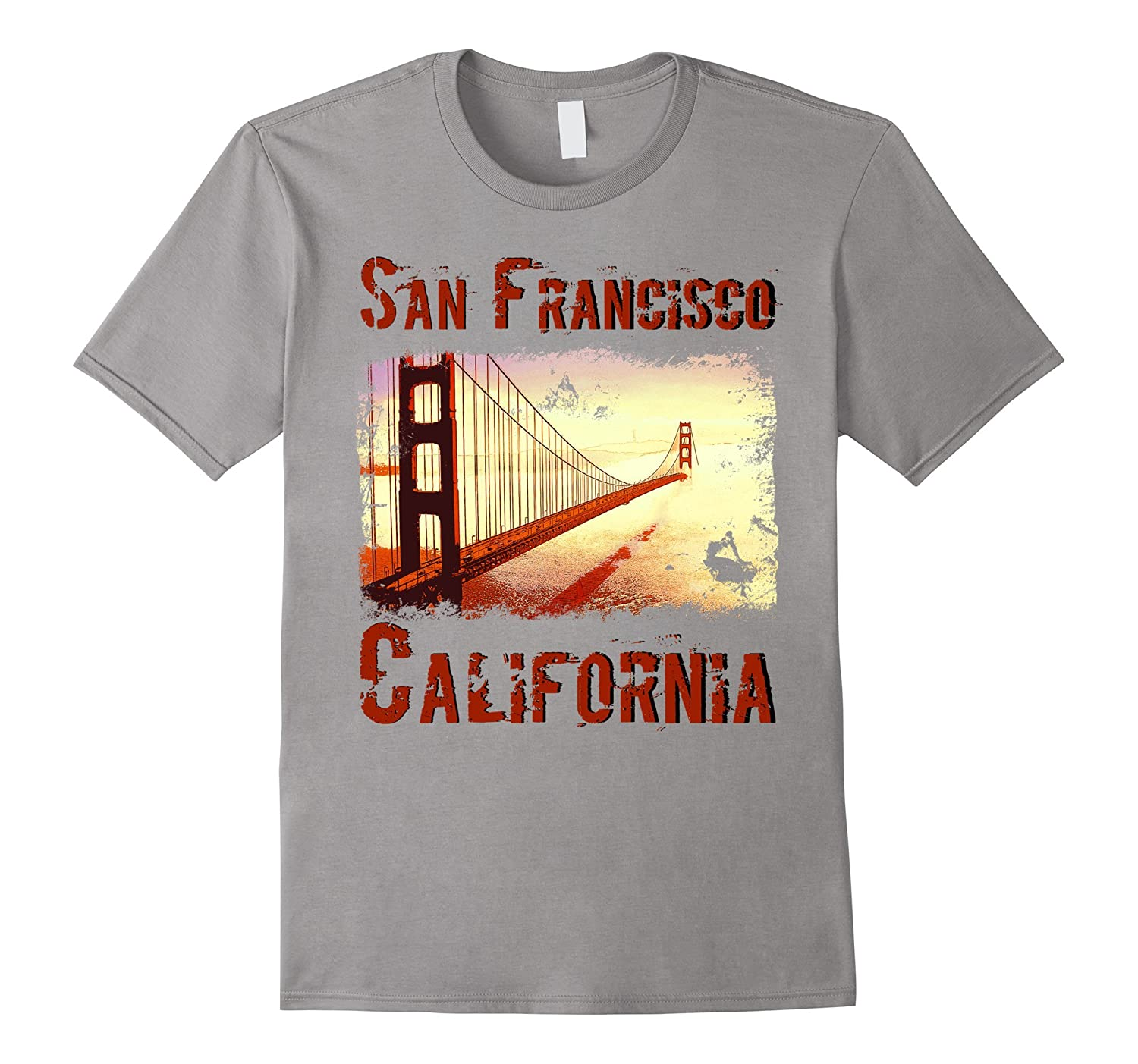 San Francisco Golden Gate Bridge T Shirt-Vaci