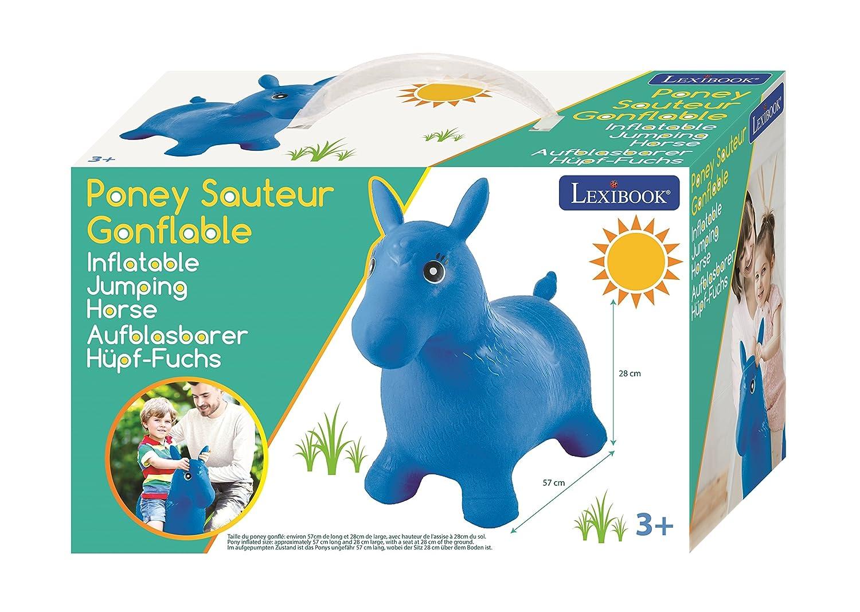 LEXIBOOK-Bg050 Poni Saltarín Hinchable Color azul Norme (BG050 ...