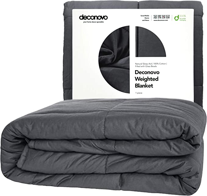 Deconovo Weighted Blanket – 100% Cotton Heavy Blanket Filled