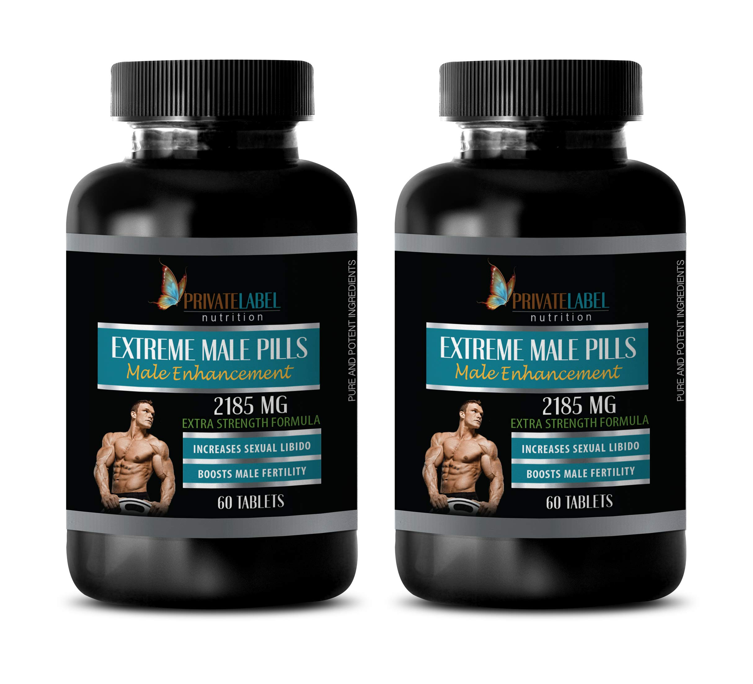 Male libido Booster Natural - Extreme Male Pills 2185 Mg - Extra Strength Formula - tongkat ali eurycoma longifolia - 2 Bottles 120 Tablets