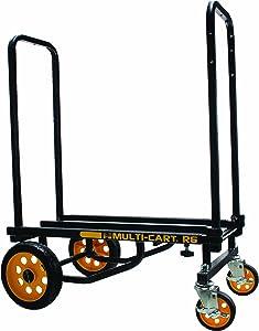 ADVANTUS Multi-Cart 8-in-1 Cart, 500 Pound Capacity, Black/Yellow (86201)