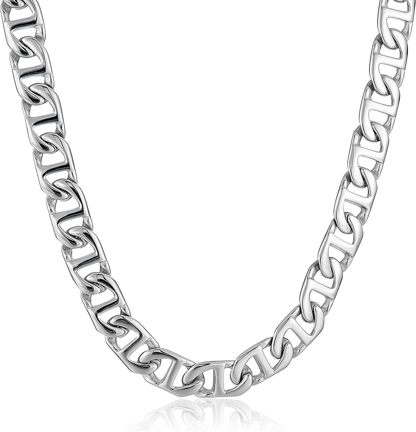 Lavari - Stainless Steel Mariner Link Chain Necklace