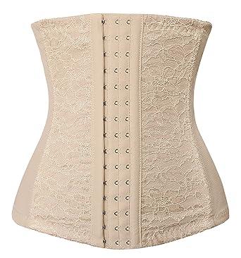 ddcdfb217ea Spring Fever Women s Faja Plus Size Waist Trainer Corset Cincher Shaper  Lingerie Apricot XS