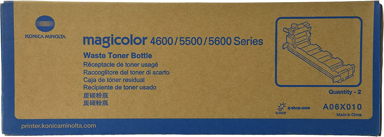 Konica Minolta A06X010 Toner Waste Bottles 2-Pack For magicolor 4650 Series Printers
