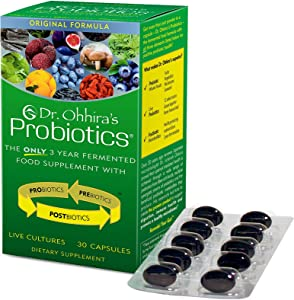 Dr. Ohhira's Probiotics Original Formula with 3 Year Fermented Prebiotics, Live Active Probiotics and The only Product with Postbiotic Metabolites, 30 Capsules
