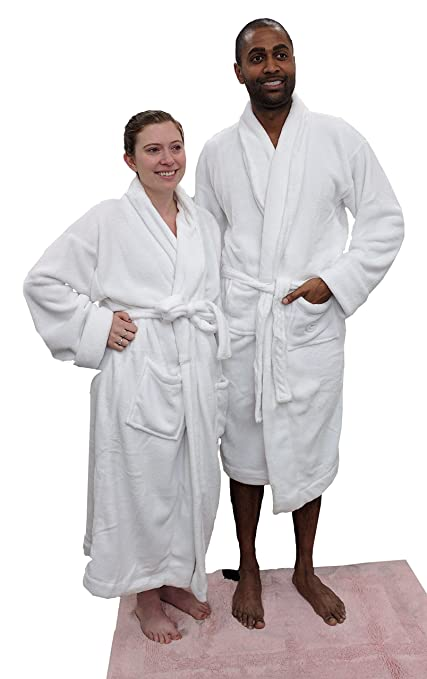 03c3627c33 Image Unavailable. Image not available for. Color  White Microfiber Plush  Bathrobe featured in Sheraton Hotels and Resorts