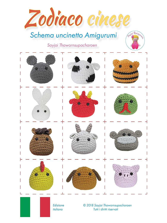 Schema uncinetto CONIGLIO rosa animali amigurumi Italiano | Etsy | 1500x1125