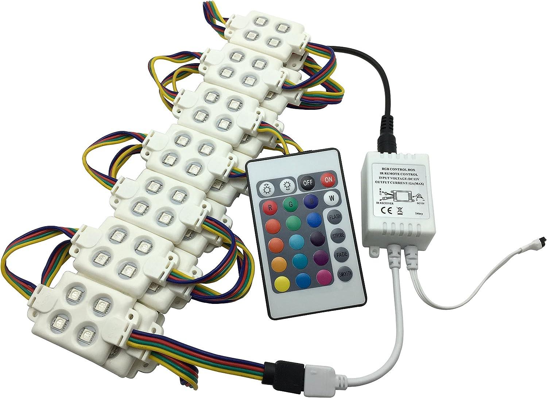 YXH® LED módulo 12V (5050 RGB kit de módulo de inyección 18W)para DIY , Iluminación LED Letras Firmar Cartelera luz, interior y exterior Impermeable (con control remoto).