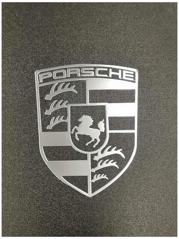 Gold, A1 Wallner 18K Gold Plated 2 pcs Metal Adhesive high-end Porsche car Badge Chrome Decal Logo Vinyl Sticker Cellphone Decal Stickers