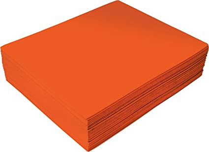 2mm Thick Orange EVA Foam Sheets by Better Office Products 30 Pack for Arts and Crafts 9 x 12 Inch Orange Color 30 Sheets Bulk Pack