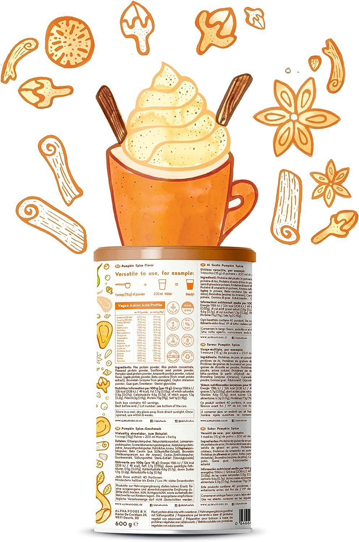 Proteina Vegana   PUMPKIN SPICE   Proteína vegetal de arroz, guisantes, semillas de lino, amaranto, semillas de girasol y semillas de calabaza ...