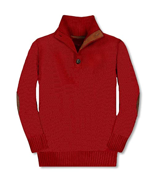 Gioberti Kids and Boys 100/% Cotton Button Down Collar Knitted Pullover Slim Fit Sweater