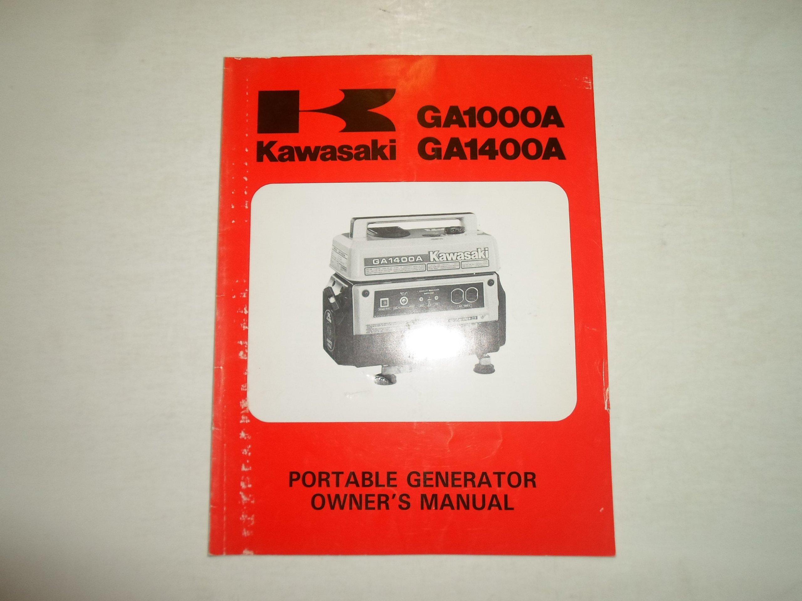 7b75e74f093c ... Array - kawasaki ga1000a ga1400a portable generator owners manual  factory rh amazon com