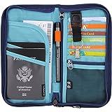 Portefeuille de voyage Zoppen, RFID - Portefeuille de voyage avec rangements optimal pour vos documents et ceux de votre famille - Étui à fermeture éclair - Dragonne détachable