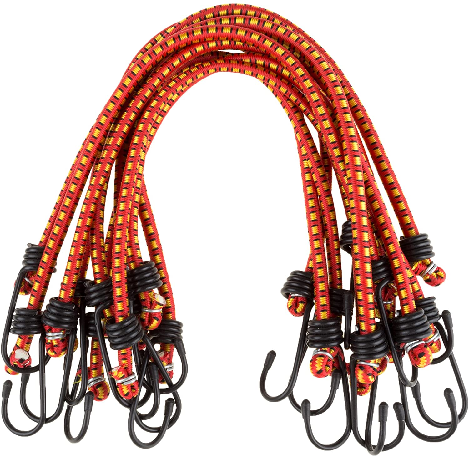 """Stalwart 18"""" Bungee Cords - 10 Pack"""