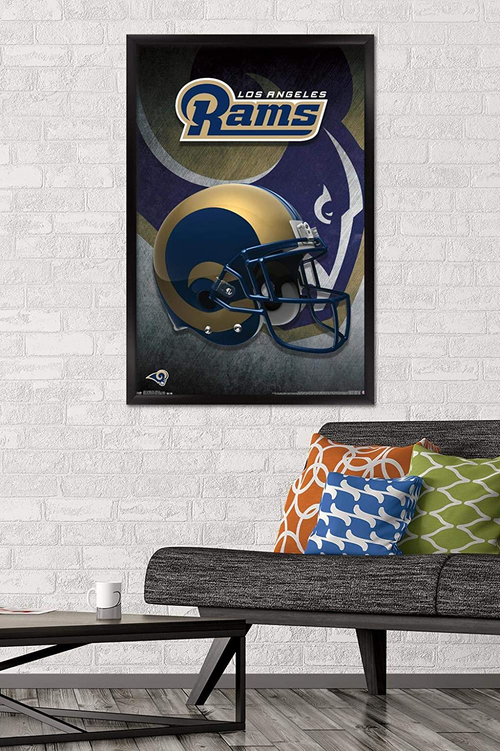 22.375 x 34 Trends International Wall Poster Los Angeles Rams Helmet