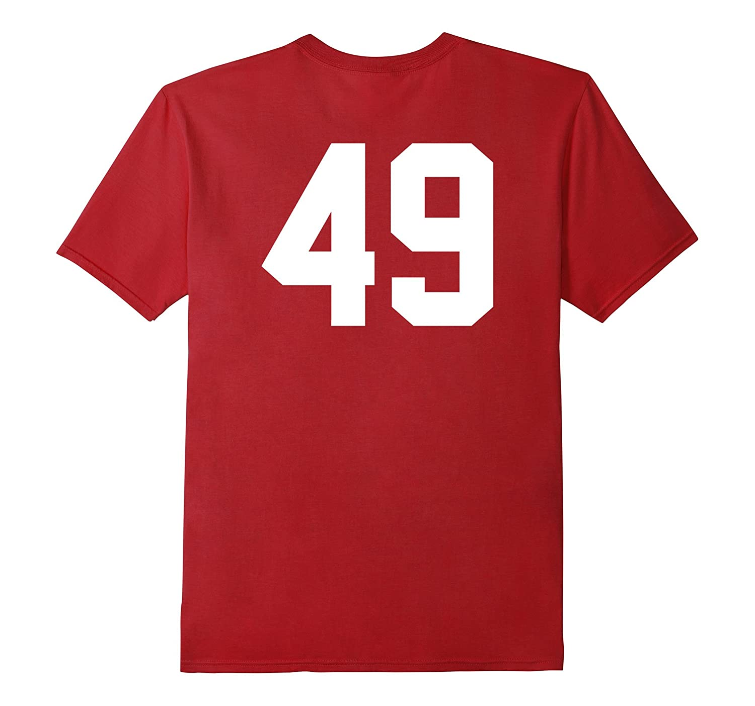 49 Sports Jersey Number on Back T-Shirt for Team Fan Player-Art