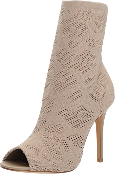 charles by charles david rebellious mesh-knit open-toe bootie