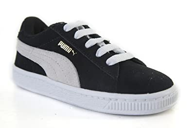 01dc6ad8f95 Puma Suede Classic Black   White 353636-01 Trainers for Women ...