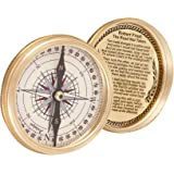 Artshai Golden Antique Style Magnetic Compass With 40 Years Calendar For Fengshui / Hiking / Camping / Office.