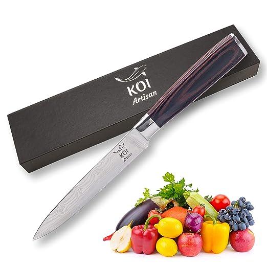 Koi Artisan - Cuchillo profesional de cocina de 12,7 cm ...