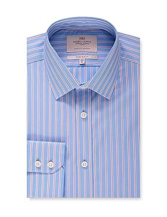 Hawes & Curtis Business Hemd – Extra Slim Fit – Kent Kragen – Feine  Streifen Blau & Pink: Amazon.de: Bekleidung