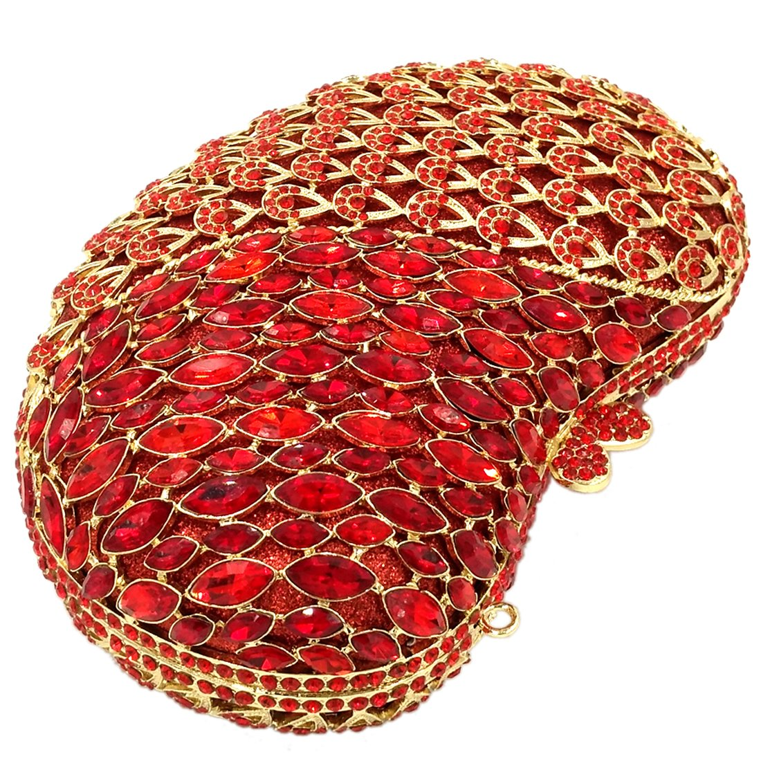Amazon.com: Elegant Evening Bags For Womens Clutches Purse Chain Wallet Handbags Crystal Party Apple Red: Clothing