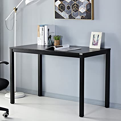 Simple office table White Amazoncom Auxley Computer 47 Inch Modern Simple Writing Desk For Home Double Deck Wood And Metal Office Table 47 Imall Amazoncom Auxley Computer 47 Inch Modern Simple Writing Desk For