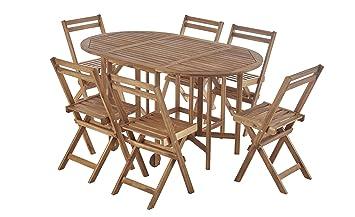 dafnedesign. com - Juego Mesa plegable y sillas Acacia ...
