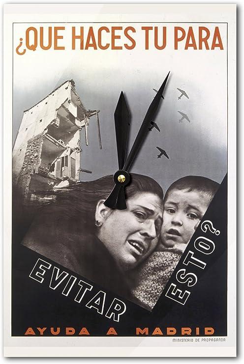 Que Haces Tu Para Evitar Esto? Vintage Póster de España (acrílico ...