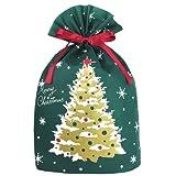 インディゴ クリスマス グリーティングバッグLL ツリー ダークグリーン XG403