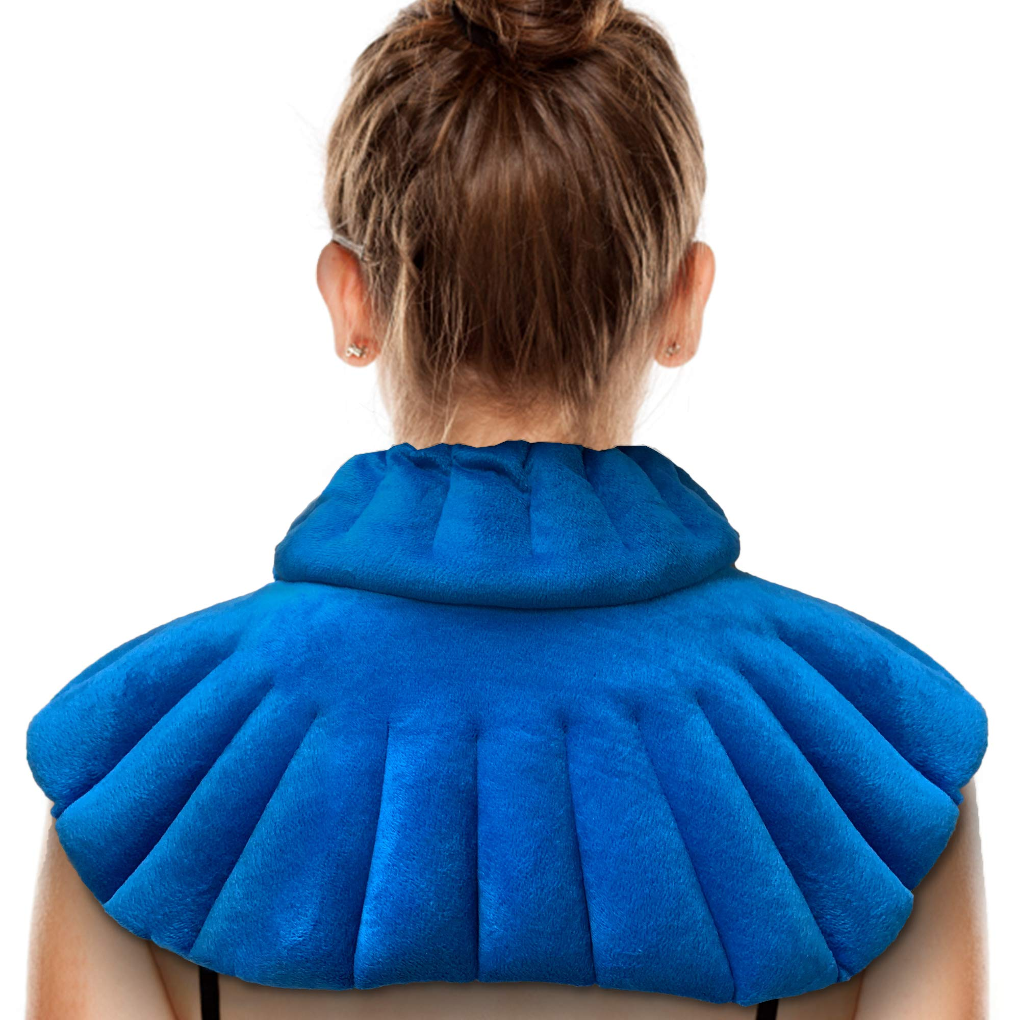 Microwavable Heating Pad for Neck and Shoulders by Zensity Wellness - Weighted Neck Wrap with Blend Natural Herbal - Heat and Cold Therapy for Anxiety, Pain, Stress, Arthritis and Pressure Relief by Zensity Wellness