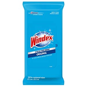 Windex Glass and Surface Wipes, Original, 28 ct (Pack of 3)
