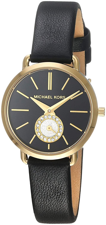 7c4002df40b8 Amazon.com  Michael Kors Women s MK2750 Portia Analog Display Black Leather  Watch  Watches