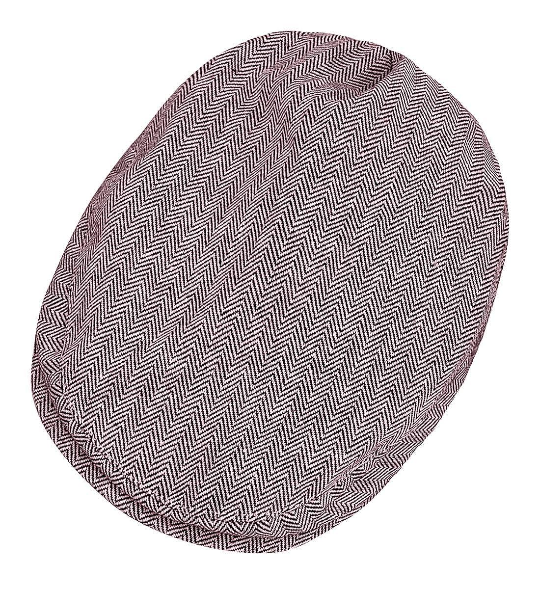 mintgreen Baby Fischgr/ätenmuster Flach Deckel Vintage Fahrer Hut mit Futter Dick und Weich Alter 44-56EU//0-8 Jahre