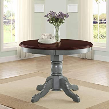 42  Round Table Top, Easily Accommodates Seating for 4, Multi-Step, Blue