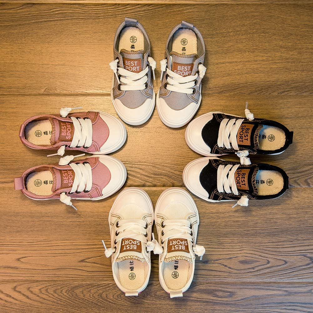 JXF Boys Girls Youth Toddler Fashion Casual Sneakers Low Top Loafers Slip on