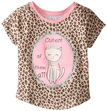92fe29065 The Children's Place Baby Girls' Active Print Dolmant Top, Sahara, 12 18  Months