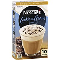 NESCAFE Cookies & Cream Latte Coffee 10 Pack, 165g