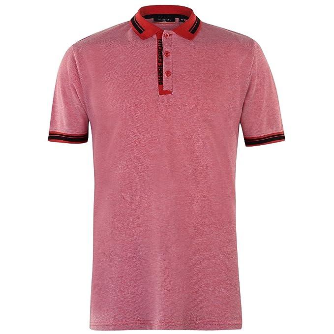Pierre Cardin Hombre Camisa Polo Contrastante Rojo S: Amazon.es ...