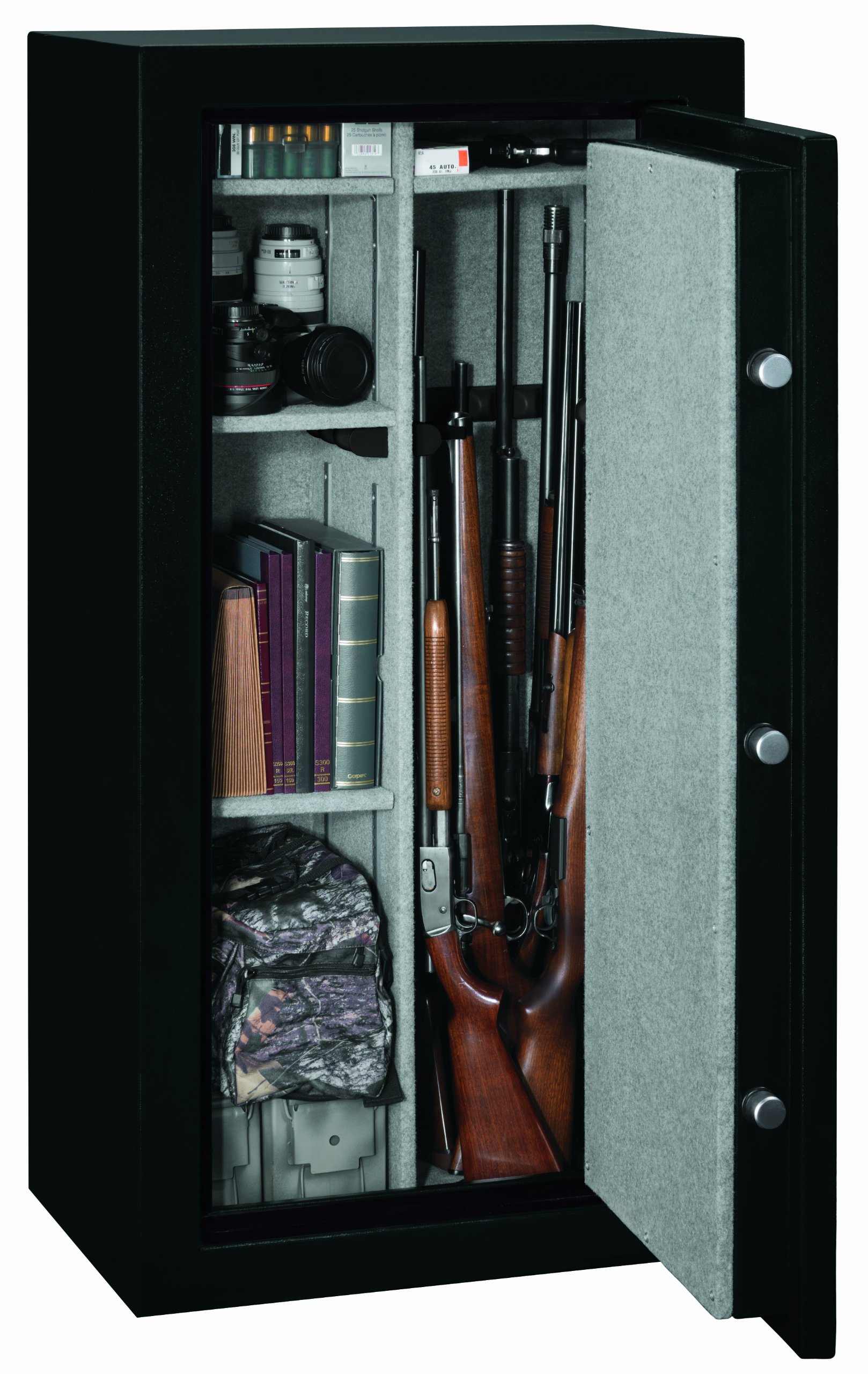 Stack-On FS-24-MB-E 24-Gun Fire Resistant Safe with Electronic Lock, Matte Black by Stack-On (Image #2)
