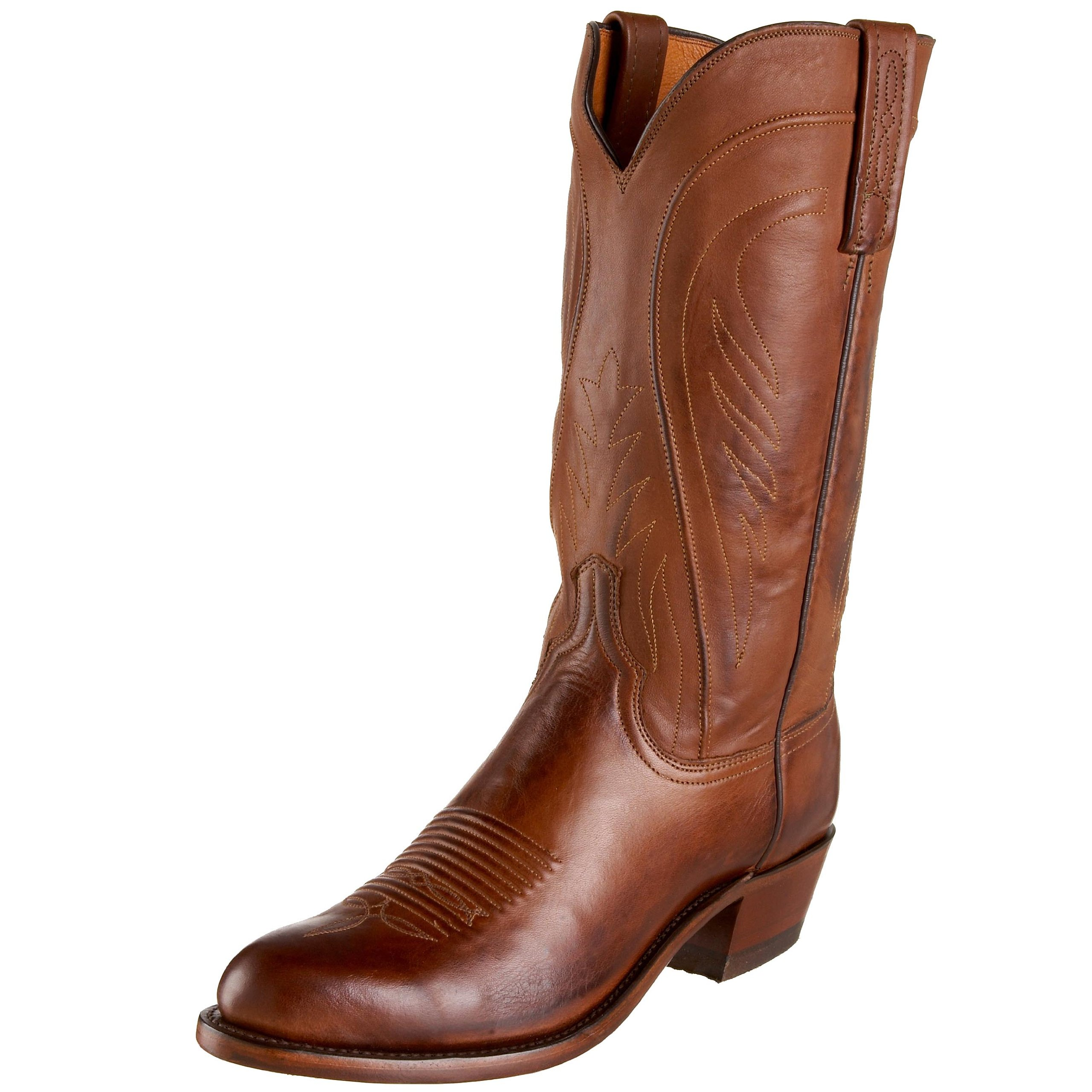 Lucchese Men's 1883 Bart Western Boots, Tan Burnish - 13 D(M) US