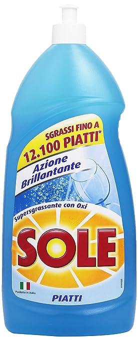 79 opinioni per Sole- Detersivo per Piatti, Azione Brillantante, Supergrassante con Oxi- 1100 ml