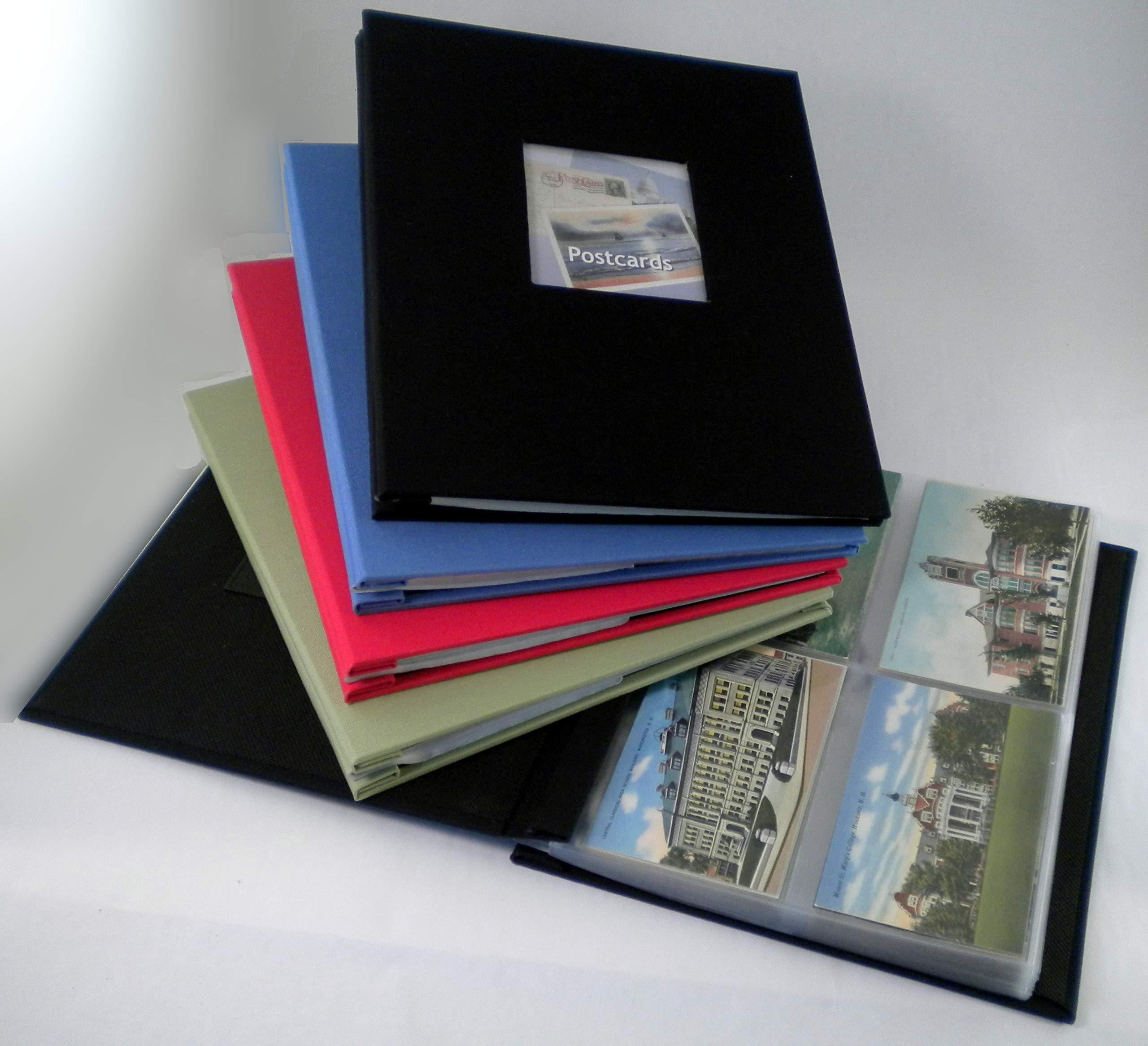 Hobbymaster Postcard Collecting Album, ''Fabrique'' Linen Style, Spring Green