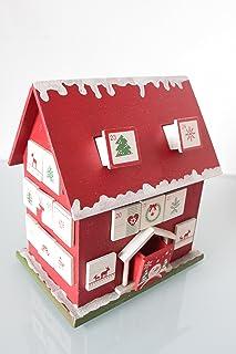 Christmas @ Thumpers Calendario dell' avvento in Legno con 24cassetti Estraibili–Natalizi, Gold House, Medium Scandinavian Design